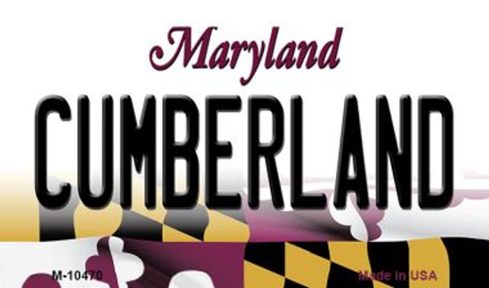 Cumberland Maryland State License Plate Magnet M-10470