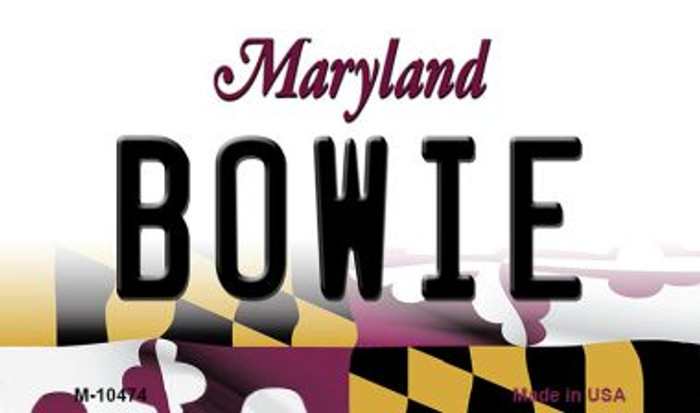 Bowie Maryland State License Plate Magnet M-10474