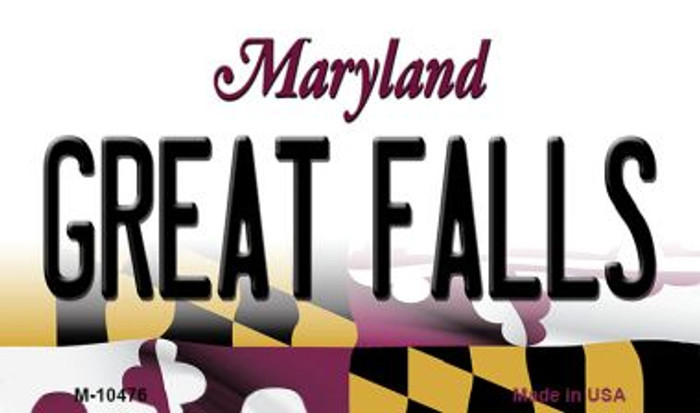 Great Falls Maryland State License Plate Magnet M-10476