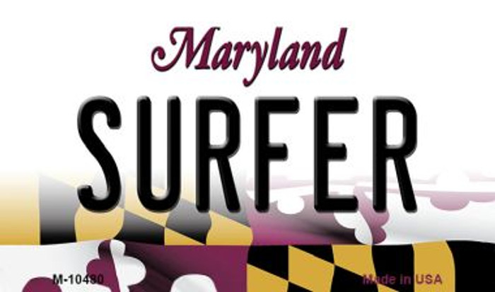 Surfer Maryland State License Plate Magnet M-10480