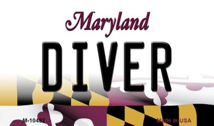 Diver Maryland State License Plate Magnet M-10482