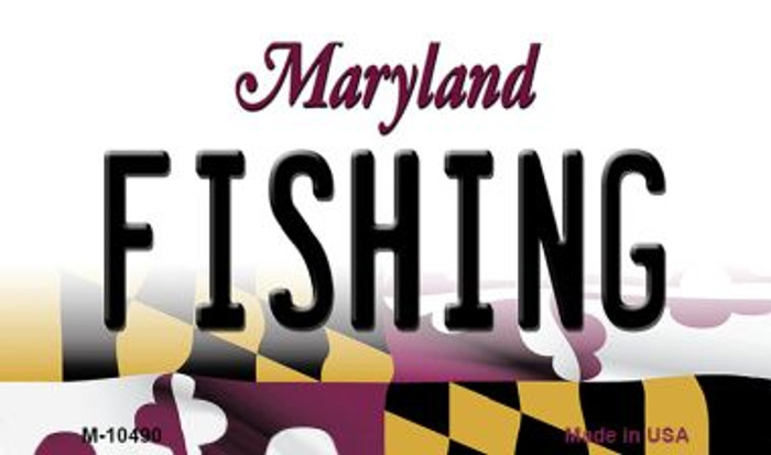 Fishing Maryland State License Plate Magnet M-10490