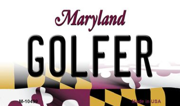 Golfer Maryland State License Plate Magnet M-10499