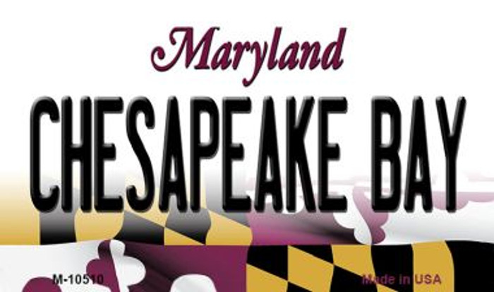 Chesapeake Bay Maryland State License Plate Magnet M-10510