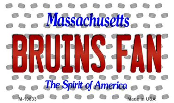 Bruins Fan Massachusetts State License Plate Magnet M-10833
