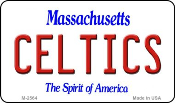 Celtics Massachusetts State License Plate Magnet M-2564