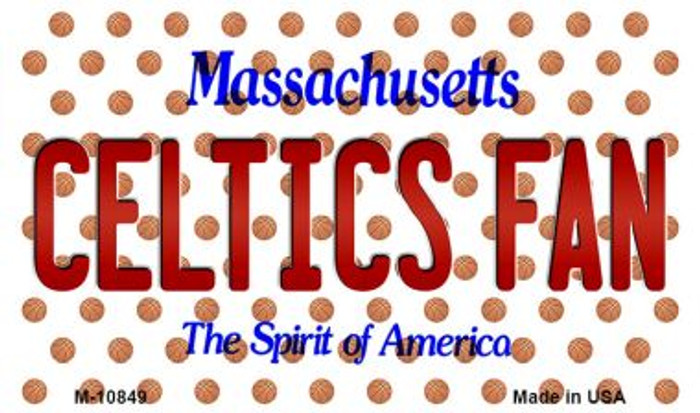 Celtics Fan Massachusetts State License Plate Magnet M-10849