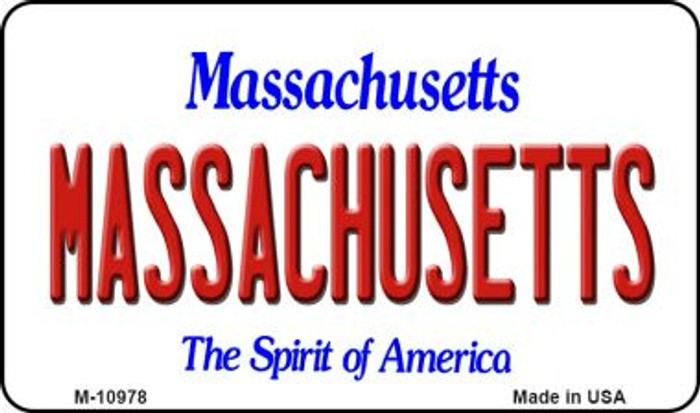 Massachusetts State License Plate Magnet M-10978