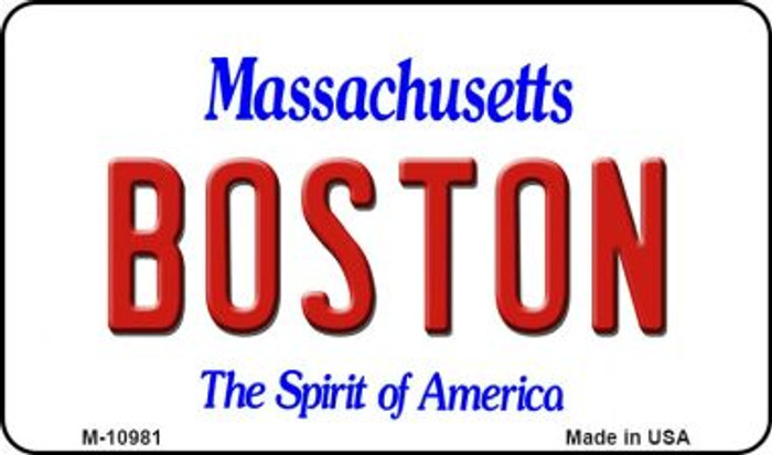 Boston Massachusetts State License Plate Magnet M-10981