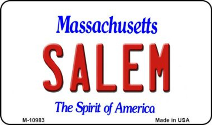 Salem Massachusetts State License Plate Magnet M-10983