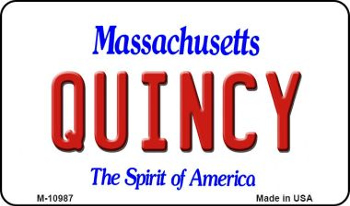 Quincy Massachusetts State License Plate Magnet M-10987