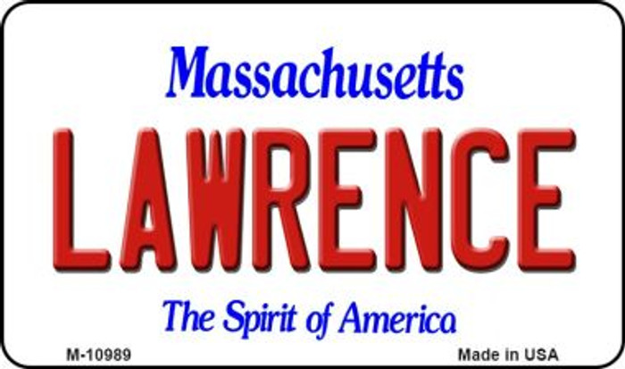 Lawrence Massachusetts State License Plate Magnet M-10989