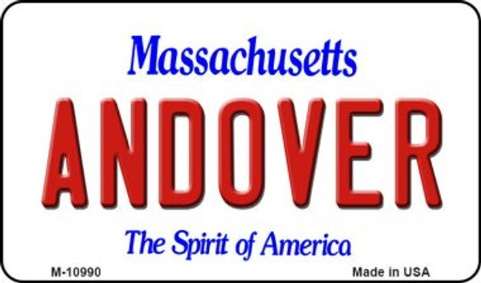 Andover Massachusetts State License Plate Magnet M-10990