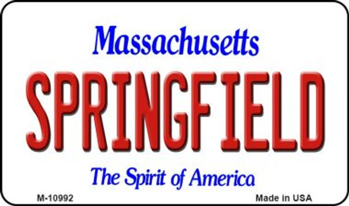 Springfield Massachusetts State License Plate Magnet M-10992