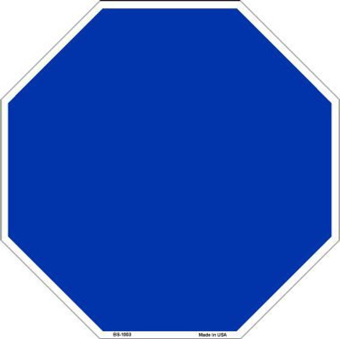 Blue Dye Sublimation Octagon Metal Novelty Stop Sign BS-1003