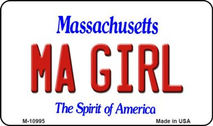 MA Girl Massachusetts State License Plate Magnet M-10995