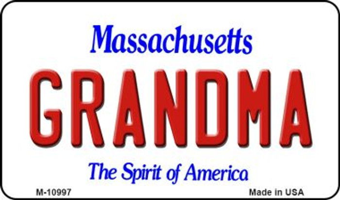 Grandma Massachusetts State License Plate Magnet M-10997