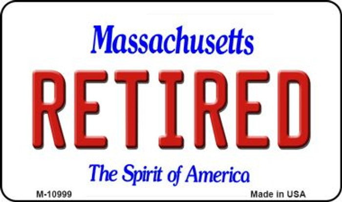 Retired Massachusetts State License Plate Magnet M-10999