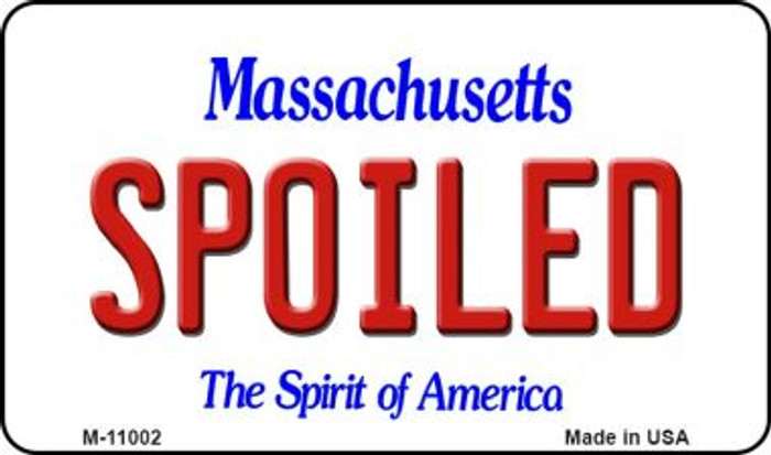 Spoiled Massachusetts State License Plate Magnet M-11002