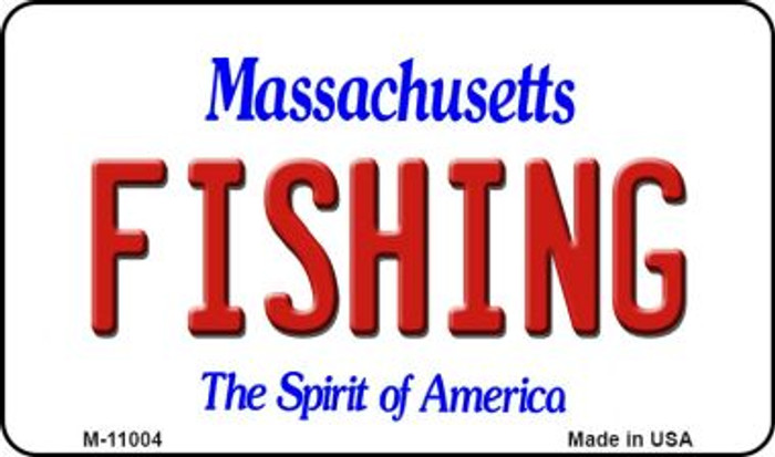 Fishing Massachusetts State License Plate Magnet M-11004