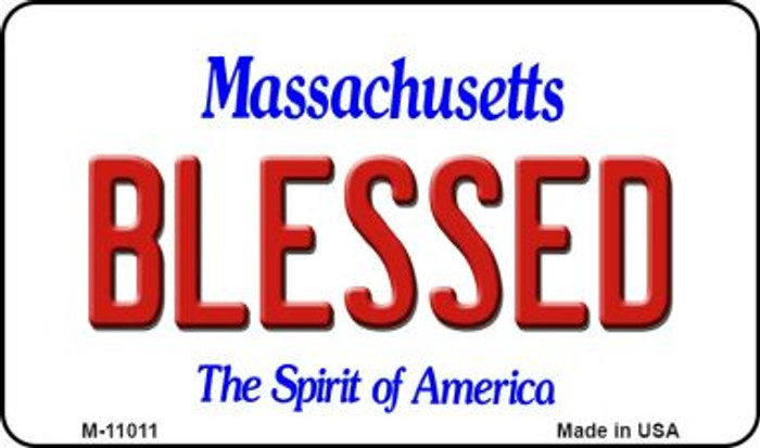 Blessed Massachusetts State License Plate Magnet M-11011