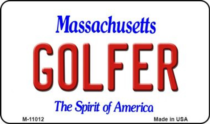 Golfer Massachusetts State License Plate Magnet M-11012
