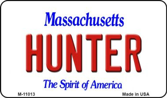 Hunter Massachusetts State License Plate Magnet M-11013