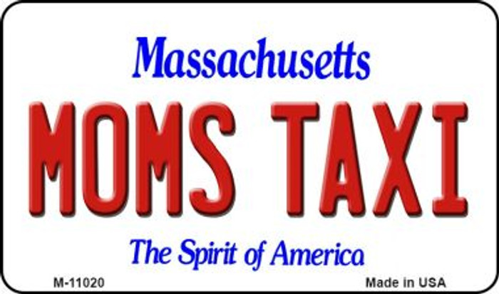 Moms Taxi Massachusetts State License Plate Magnet M-11020