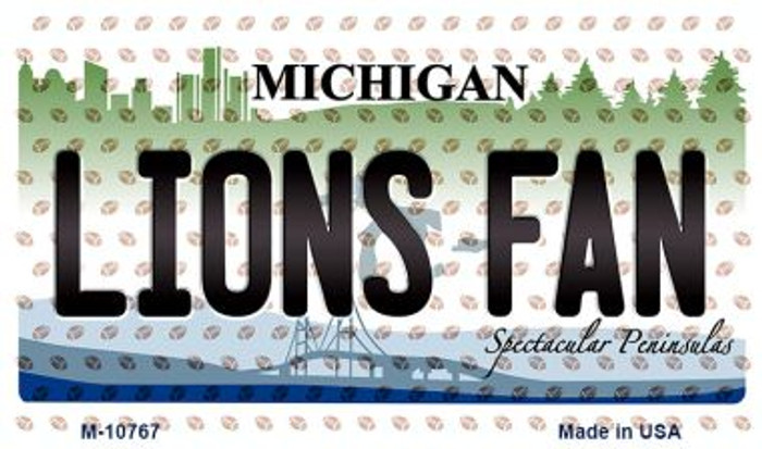 Lions Fan Michigan State License Plate Magnet M-10767