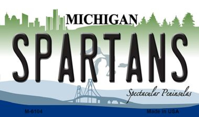 Spartans Michigan State License Plate Novelty Magnet M-6104