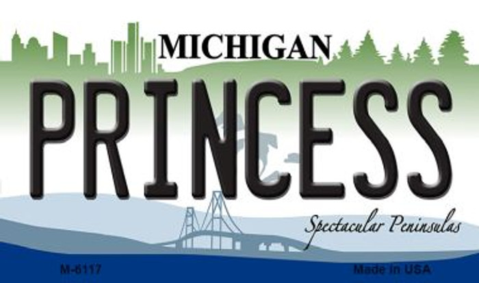 Princess Michigan State License Plate Novelty Magnet M-6117