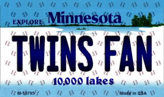Twins Fan Minnesota State License Plate Magnet M-10795