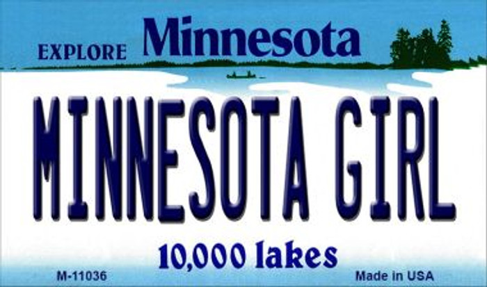 Minnesota Girl Minnesota State License Plate Novelty Magnet M-11036