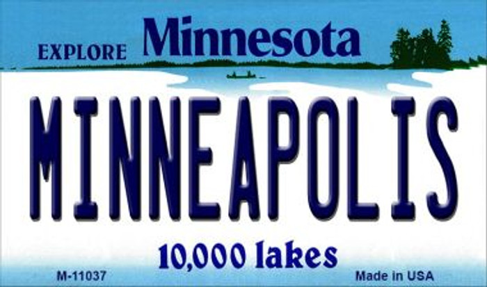 Minneapolis Minnesota State License Plate Novelty Magnet M-11037