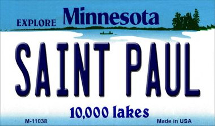 Saint Paul Minnesota State License Plate Novelty Magnet M-11038
