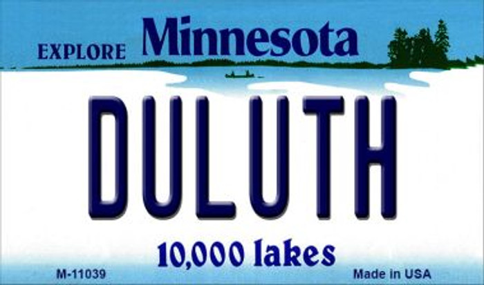 Duluth Minnesota State License Plate Novelty Magnet M-11039