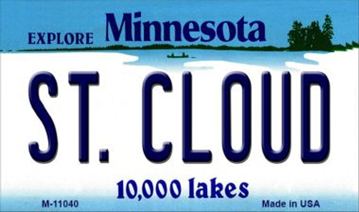 St Cloud Minnesota State License Plate Novelty Magnet M-11040