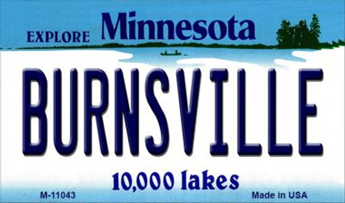 Burnsville Minnesota State License Plate Novelty Magnet M-11043
