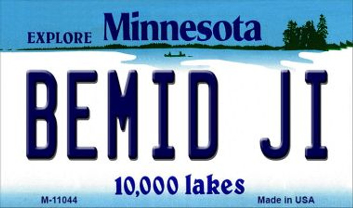 Bemid Ji Minnesota State License Plate Novelty Magnet M-11044