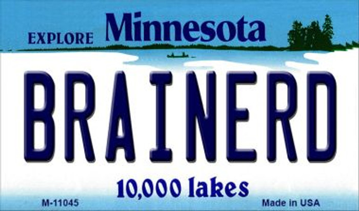 Brainerd Minnesota State License Plate Novelty Magnet M-11045