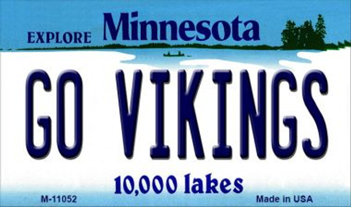 Go Vikings Minnesota State License Plate Novelty Magnet M-11052