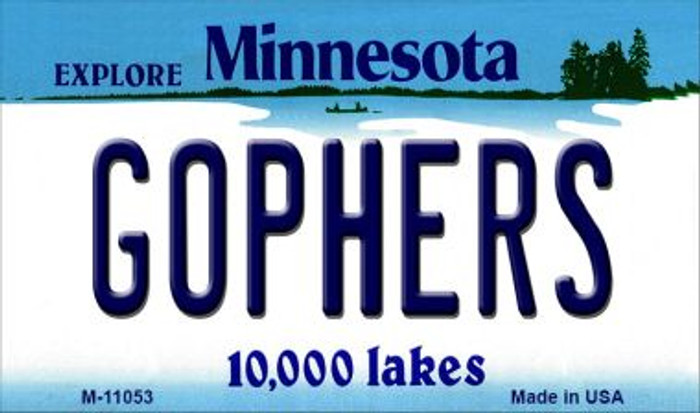 Gophers Minnesota State License Plate Novelty Magnet M-11053