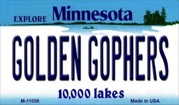 Golden Gophers Minnesota State License Plate Novelt Magnet M-11056