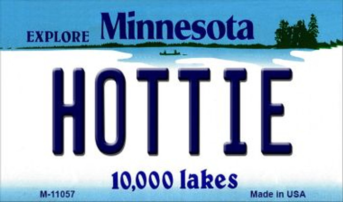 Hottie Minnesota State License Plate Novelty Magnet M-11057