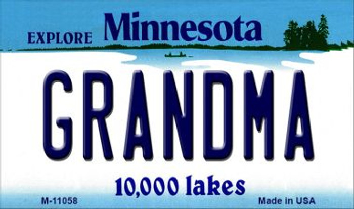 Grandma Minnesota State License Plate Novelty Magnet M-11058