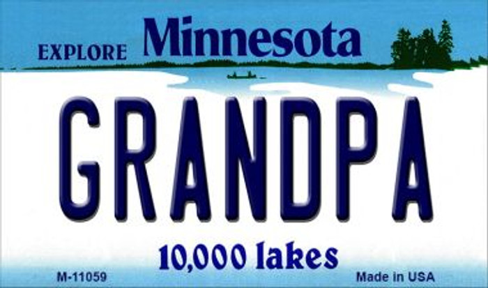 Grandpa Minnesota State License Plate Novelty Magnet M-11059