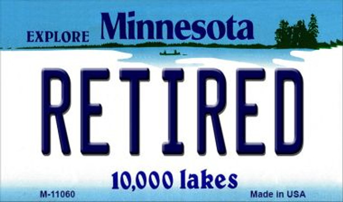 Retired Minnesota State License Plate Novelty Magnet M-11060