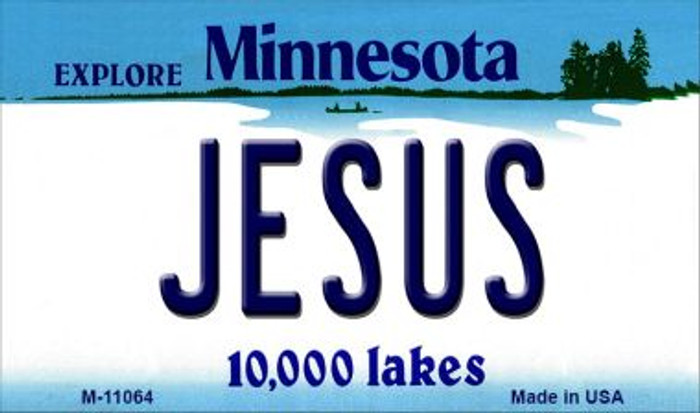 Jesus Minnesota State License Plate Novelty Magnet M-11064