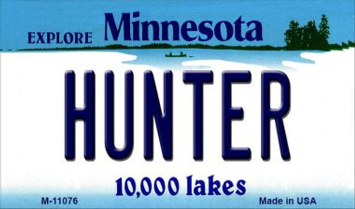 Hunter Minnesota State License Plate Novelty Magnet M-11076
