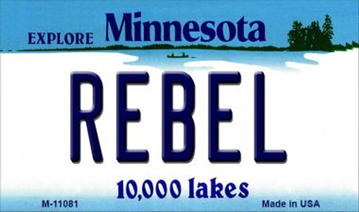 Rebel Minnesota State License Plate Novelty Magnet M-11081